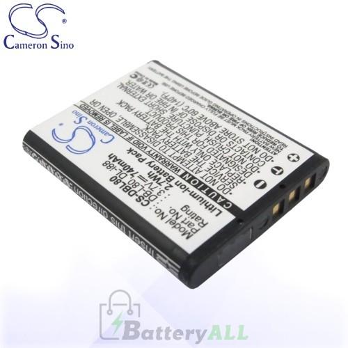 CS Battery for Pentax Optio P80 / Optio W90 / Optio WS80 Battery 740mah CA-DBL80
