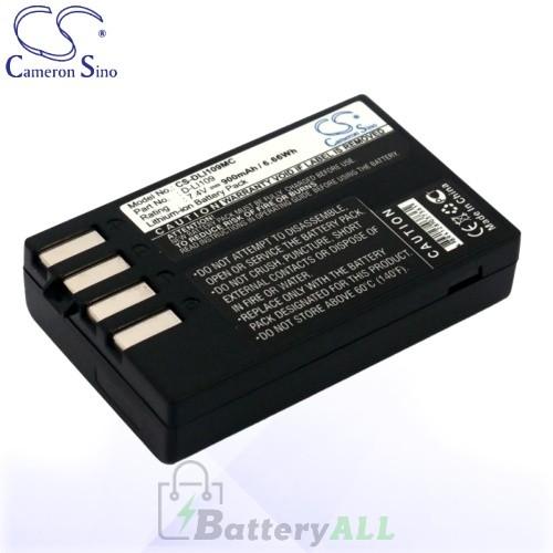 CS Battery for Pentax D-LI109 / Pentax K-2 / Pentax K-R Battery 900mah CA-DLI109MC