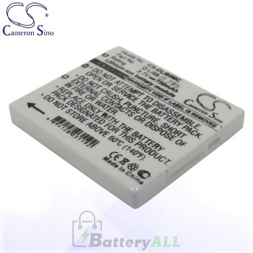 CS Battery for Pentax D-LI95 / Pentax Optio E75 E85 M85 Battery 700mah CA-DLI95MC