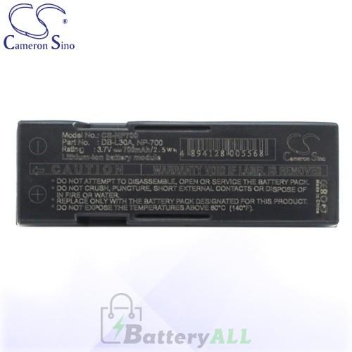 CS Battery for Pentax D-LI72 / Pentax Optio Z10 Battery 700mah CA-NP700