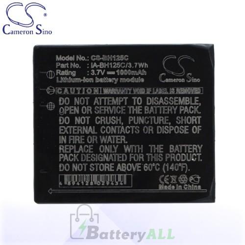 CS Battery for Samsung IA-BH125C / Samsung HMX-R10 Battery 1000mah CA-BH125C