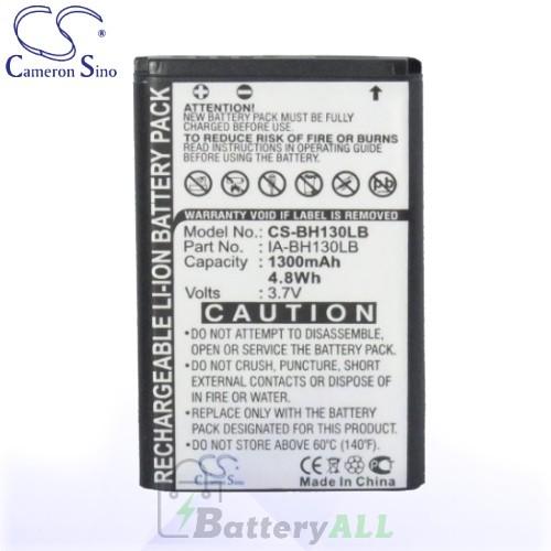CS Battery for Samsung HMX-W300RN / HMX-W300RP / HMX-W300YN Battery 1300mah CA-BH130LB