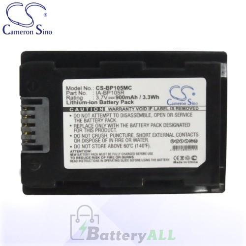 CS Battery for Samsung SMX-F50 / SMX-F50BP / SMX-F70BP Battery 900mah CA-BP105MC