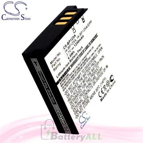 CS Battery for Samsung HMX-Q100 / HMX-Q100BN / HMX-Q100BP Battery 1250mah CA-BP125A