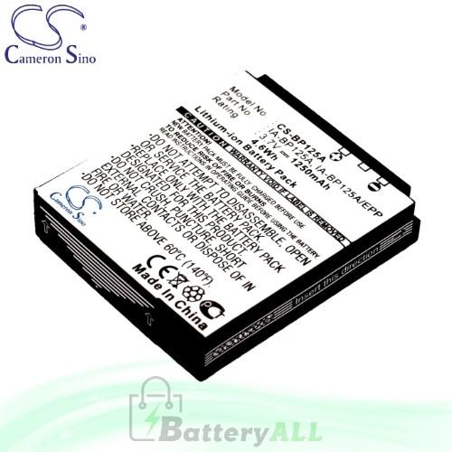 CS Battery for Samsung HMX-Q20EDC / HMX-Q200 / HMX-Q200BN Battery 1250mah CA-BP125A