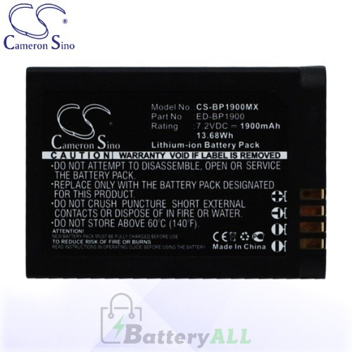CS Battery for Samsung ED-BP1900 / EV-NX1ZZZBMBUS / NX1 Battery 1900mah CA-BP1900MX