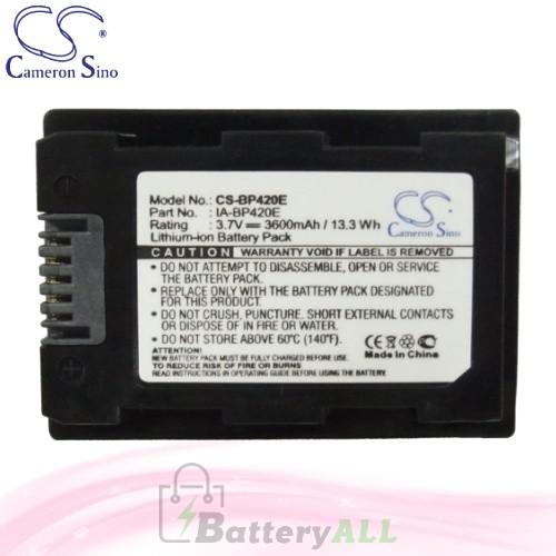 CS Battery for Samsung SMX-F44LN / SMX-F44RN / SMX-F44SN Battery 3600mah CA-BP420E