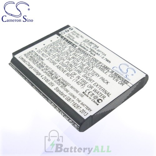 CS Battery for Samsung BP-70A / BP-70EP / EA-BP70A / SLB-70A Battery 740mah CA-BP70A