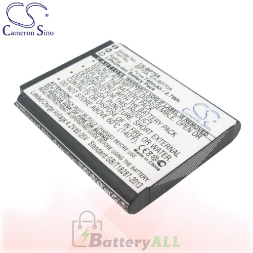 CS Battery for Samsung PL201 / SL50 / SL600 / SL605 / SL630 Battery 740mah CA-BP70A