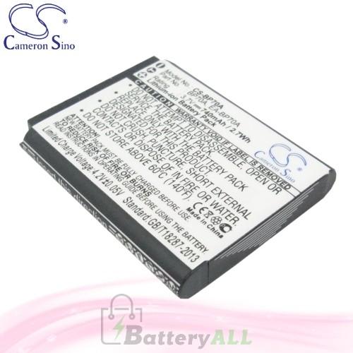 CS Battery for Samsung ES67 / ES70 / ES71 / ES73 / ES74 Battery 740mah CA-BP70A