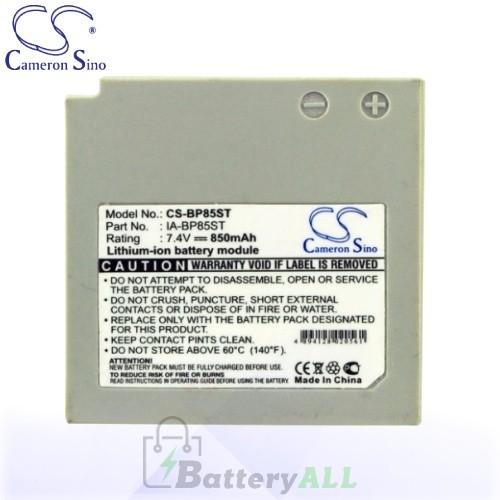 CS Battery for Samsung VP-HMX10 / VP-HMX10C / VP-HMX20C Battery 850mah CA-BP85ST