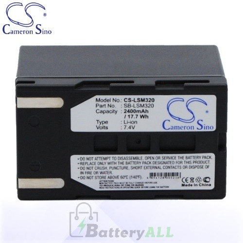CS Battery for Samsung SB-LSM320 / Samsung SC-D263 / SC-D351 Battery 2400mah CA-LSM320
