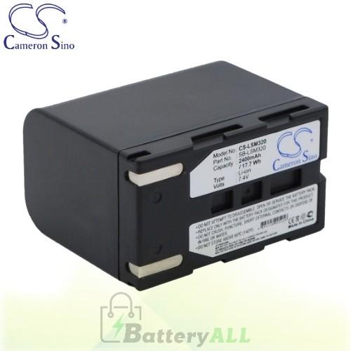 CS Battery for Samsung VP-DC161WBi / VP-DC161Wi / VP-DC163 Battery 2400mah CA-LSM320