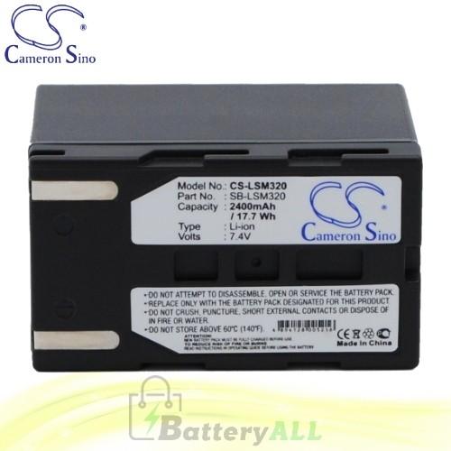 CS Battery for Samsung VP-DC563i / VP-DC565WBi / VP-DC565Wi Battery 2400mah CA-LSM320