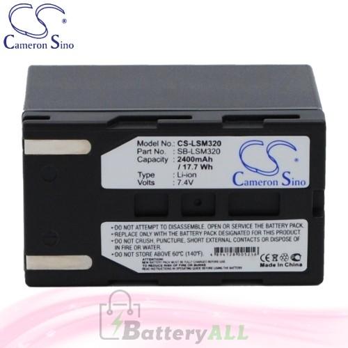 CS Battery for Samsung SC-DC563 / SC-DC564 / SC-DC565 Battery 2400mah CA-LSM320