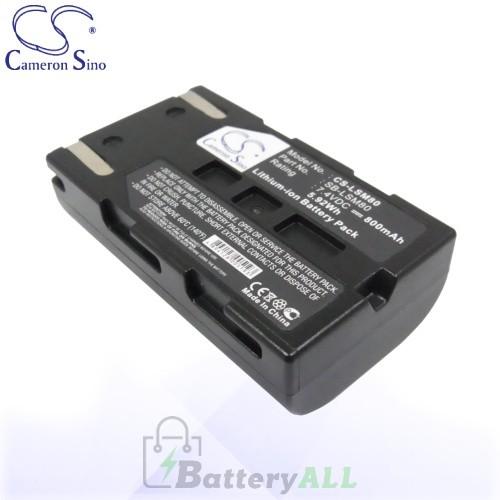 CS Battery for Samsung SB-LSM80 / Samsung SC-D173(U) / SC-D263 Battery 800mah CA-LSM80