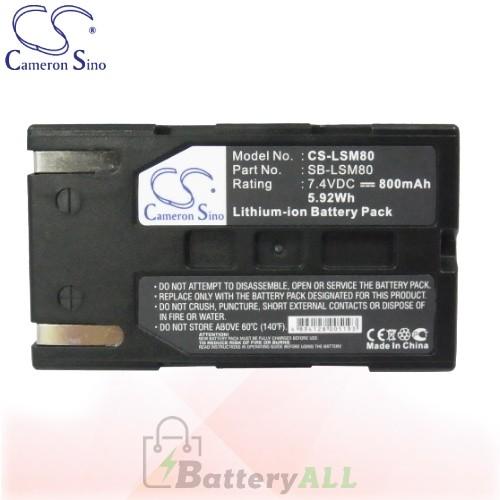 CS Battery for Samsung VP-D363 / VP-D363i / VP-D364W / VP-D455 Battery 800mah CA-LSM80
