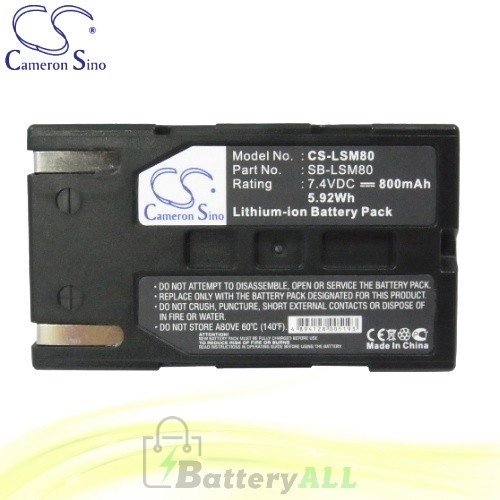 CS Battery for Samsung VP-DC563i / VP-DC565WBi / VP-DC565Wi Battery 800mah CA-LSM80