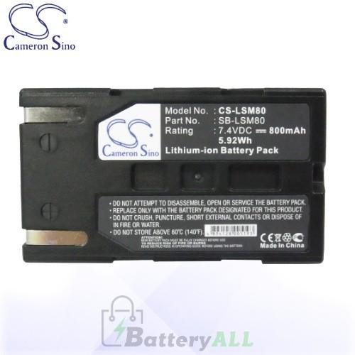 CS Battery for Samsung SC-D453 / SC-D455 / SC-D963 / SC-D975 Battery 800mah CA-LSM80
