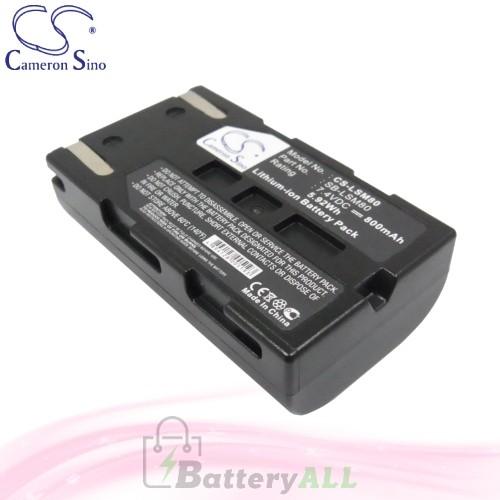 CS Battery for Samsung SC-DC164 / SC-DC165 / SC-DC171 Battery 800mah CA-LSM80