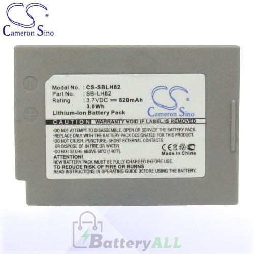 CS Battery for Samsung VP-MS10 / VP-MS11 / VP-MS12S / VP-MS15 Battery 820mah CA-SBLH82