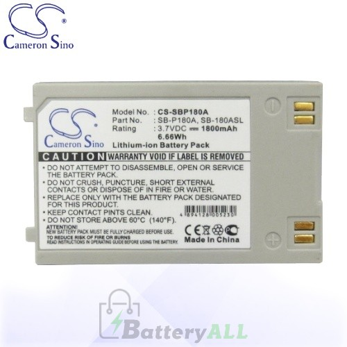 CS Battery for Samsung SC-MM10S / SC-X205L / SC-X205WL Battery 1800mah CA-SBP180A