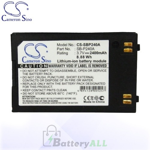 CS Battery for Samsung SC-MM10S / SC-X205L / SC-X205WL Battery 2400mah CA-SBP240A