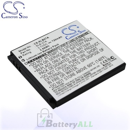 CS Battery for Samsung SLB-07A / Samsung ST50 / ST500 Battery 720mah CA-SLB07A
