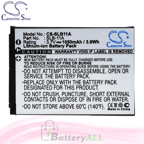 CS Battery for Samsung TL320 / TL350 / TL500 / WB1000 Battery 1050mah CA-SLB11A