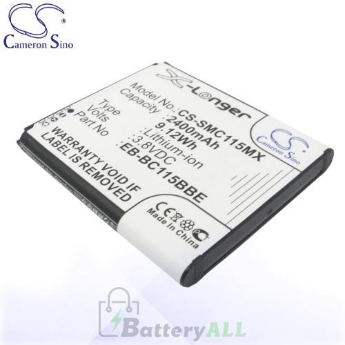CS Battery for Samsung EB-BC115BBC / EB-BC115BBE / S5 Zoom Battery 2400mah CA-SMC115MX