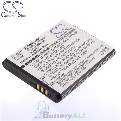 CS Battery for Samsung BP88B / PV-BP88B / EA-BP88B Battery 600mah CA-SMV900MC