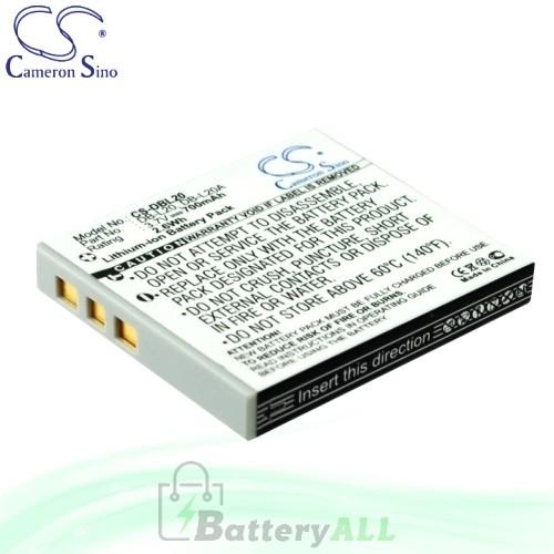 CS Battery for Sanyo Xacti VPC-CA9EXBK-B / VPC-CA9EXG-B Battery 700mah CA-DBL20