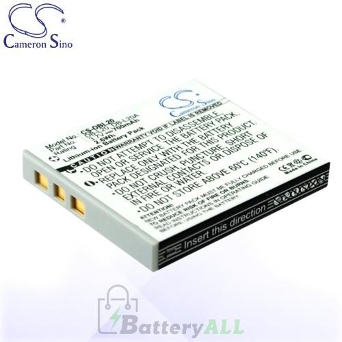 CS Battery for Sanyo Xacti DMX-C4(D) / DMX-C4(L) / DMX-C4(N) Battery 700mah CA-DBL20