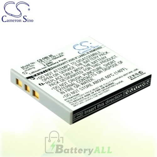 CS Battery for Sanyo Xacti VPC-J4 / VPC-J4EX Battery 700mah CA-DBL20