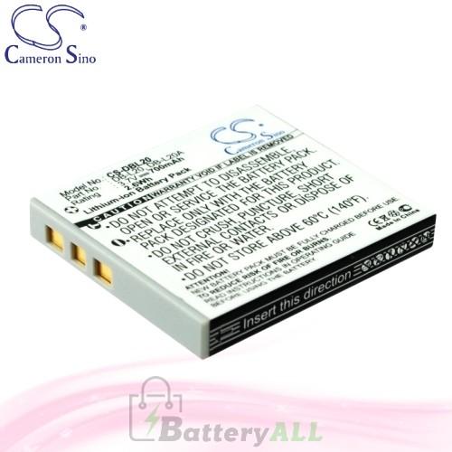CS Battery for Sanyo Xacti DMX-CG6 / DMX-CG65 / DMX-CG65-G Battery 700mah CA-DBL20