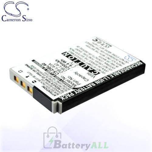 CS Battery for Sanyo DB-L40 / DB-L40A / DB-L40AU Battery 1200mah CA-DBL40