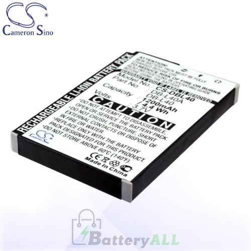 CS Battery for Sanyo Xacti DMX-HD1 / DMX-HD1A / DMX-HD2 Battery 1200mah CA-DBL40