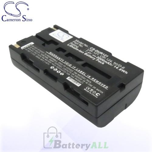 CS Battery for Sanyo UR-121 / UR-121D / UR-124 / UR-124D Battery 2000mah CA-DUR121