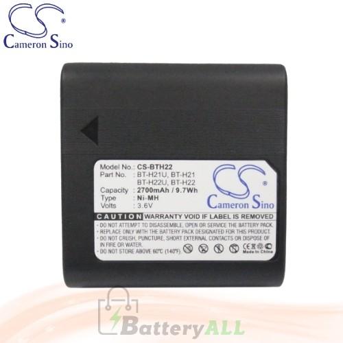 CS Battery for Sharp VL-H800U / VL-H850 / VL-H850S / VL-H850U Battery 2700mah CA-BTH22
