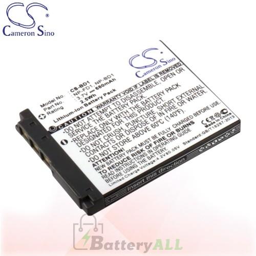 CS Battery for Sony Cyber-shot DSC-T300/R / DSC-T300/S Battery 680mah CA-BD1