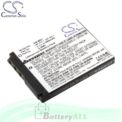 CS Battery for Sony Cyber-shot DSC-T900 / DSC-T900/T / DSC-TX1/H Battery 680mah CA-BD1