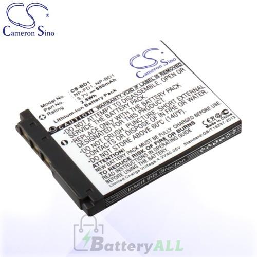 CS Battery for Sony Cyber-shot DSC-G3 / DSC-T77/P / DSC-T77/T Battery 680mah CA-BD1