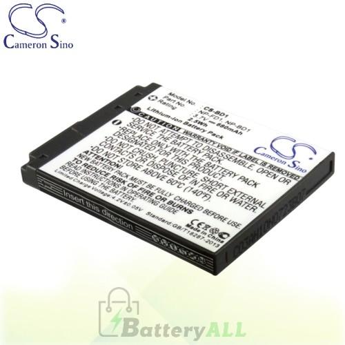 CS Battery for Sony Cyber-shot DSC-T300 / Cyber-shot DSC-T300/B Battery 680mah CA-BD1