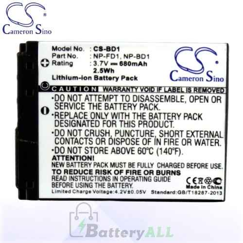 CS Battery for Sony Cyber-shot DSC-T70 / DSC-T70/B / DSC-T70/P Battery 680mah CA-BD1