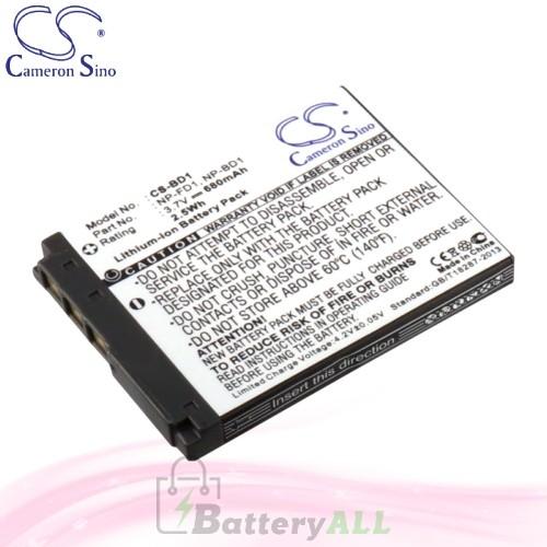 CS Battery for Sony Cyber-shot DSC-T77 / DSC-T77/B / DSC-T77/G Battery 680mah CA-BD1