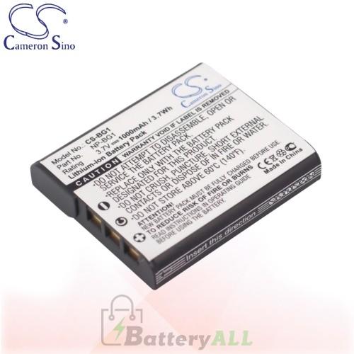 CS Battery for Sony Cyber-Shot DSC-HX7 / DSC-HX7V / DSC-HX7VB Battery 1000mah CA-BG1