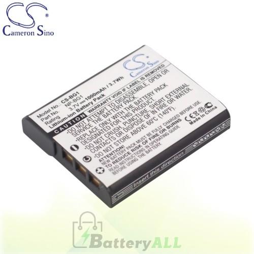CS Battery for Sony Cyber-Shot DSC-W35 / DSC-W50S / DSC-W55/P Battery 1000mah CA-BG1