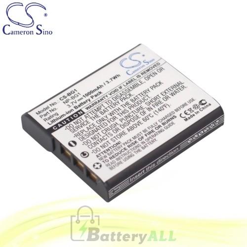 CS Battery for Sony Cyber-Shot DSC-W80 / DSC-W80/B / DSC-W80/P Battery 1000mah CA-BG1