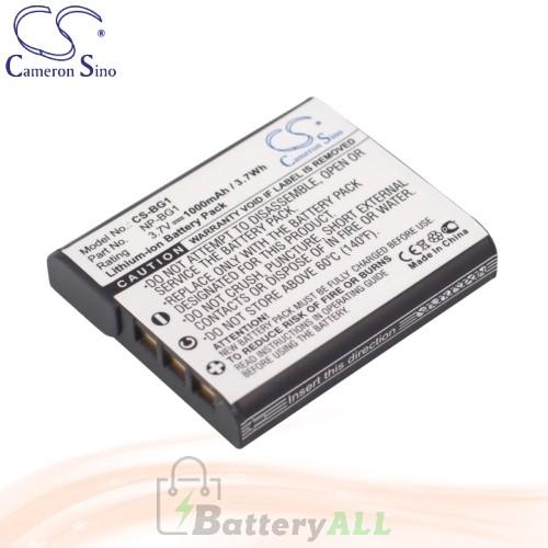 CS Battery for Sony Cyber-Shot DSC-W110 / DSC-W115 / DSC-WX10 Battery 1000mah CA-BG1