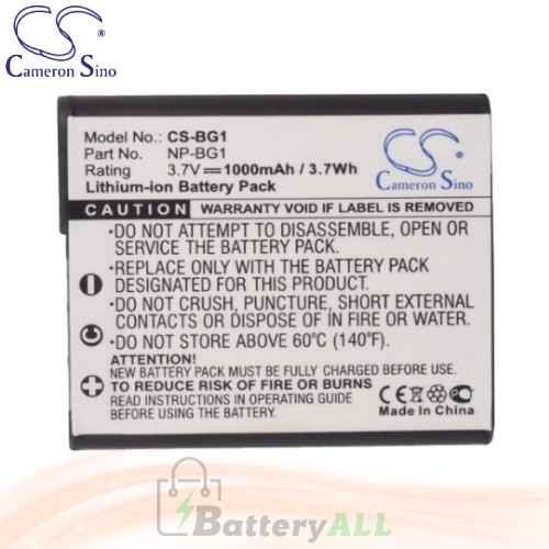 CS Battery for Sony Cyber-Shot DSC-W150 / DSC-W150/B / DSC-W170 Battery 1000mah CA-BG1